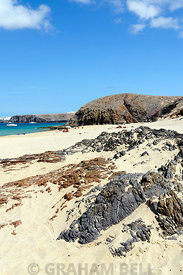 Playa Del Pozo beach, Papagayo Peninsula, Playa Blanca, Lanzarote, Canary Islands, Spain.
