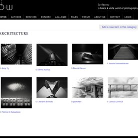 """Do Angels Lie Down Here?"" being published into JustB&W Architecture selection photos"