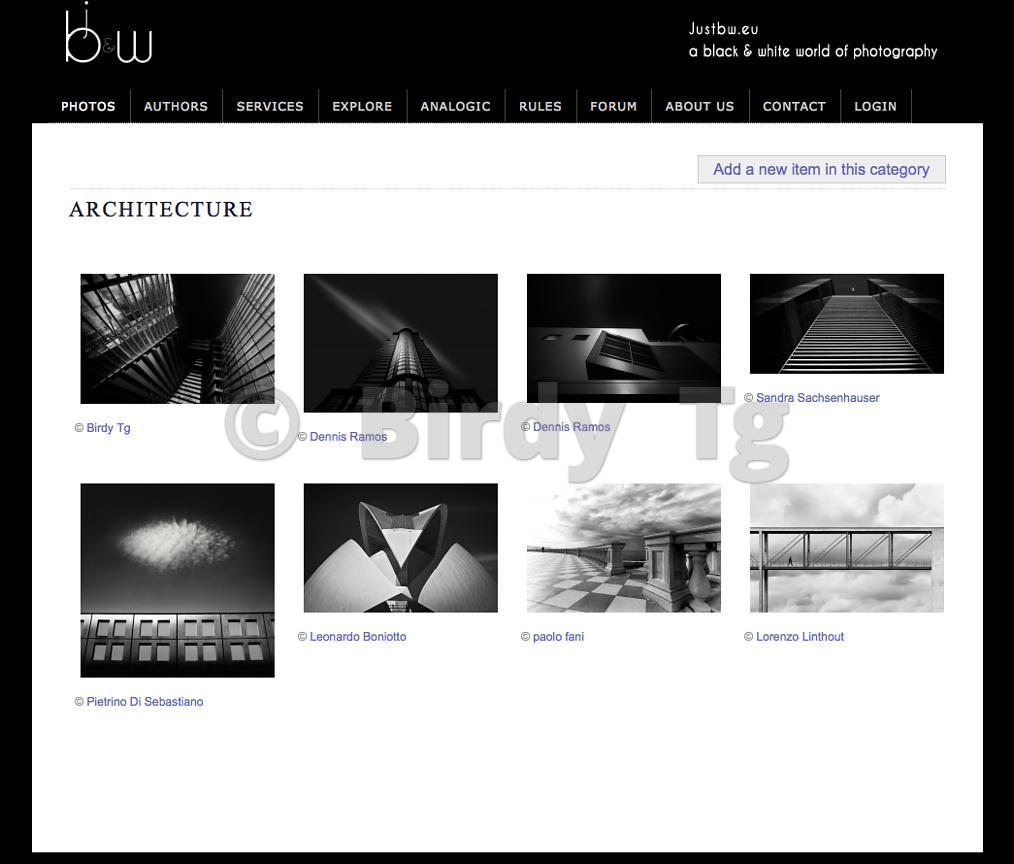 """Do Angels lie Down Here?"" Being published in JustB&W Architecture Gallery"
