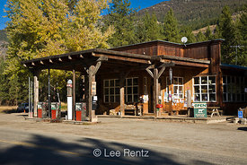 The Mazama Store serves tourists and locals in the Methow Valley, North Cascade Mountains, Washington State, USA, October, 2008_WA_6516