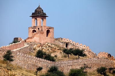 Ramparts near Amber fort, Jaipur, Rajasthan, India