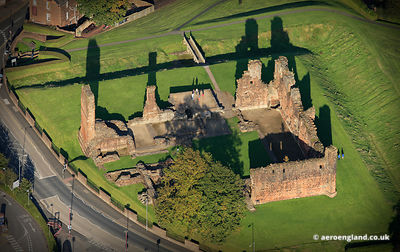 aerial photograph of Penrith Castle Cumbria England UK