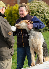 Davina West and Popcorn at the meet - The Cottesmore Hunt at Ladywood Lodge 28/2