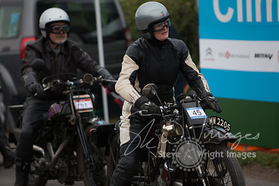 Alison Hunt on a Scott Flying Squirrel (596cc, 1928) - Kop Hill Climb 2013