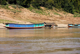 Boats moored, Meekong river