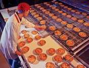 Industrial production of quiches
