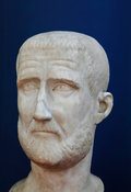 "Marble bust of the Emperor Probus. ""Portraits. The Many Faces of Power"" Exhibition"
