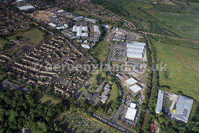 aerial photograph of Norwich showing the area around   Hall Rd