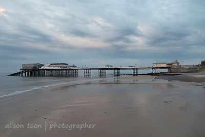 Cromer pier at sunset