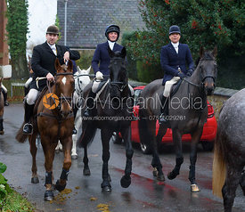 Russell Cripps, Sophie Walker, Nicky Hanbury at the meet - The Cottesmore at Knossington 22/11