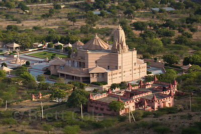 The massive Nareli Jain temple, Ajmer, Rajasthan, India. It's the largest temple in the region.
