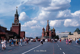 Red Square Moscow, St. Basils Cathedral.