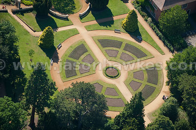 Abbey Gardens, Abingdon. aerial view