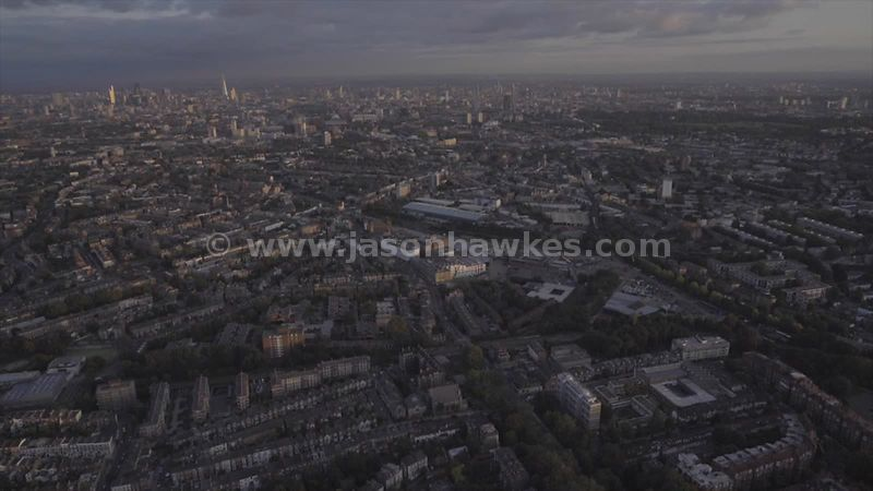 Aerial footage of Gospel Oak and Kentish Town