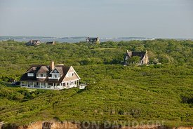Aerial photo of the Seven Sisters in the Hamptons
