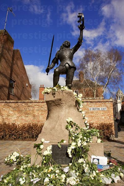 Statue of Richard III Moved to this Location Outside Leicester Cathedral in 2014