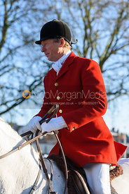 Nicholas Leeming arriving at the meet - The Cottesmore Hunt in Melton Mowbray 2/1