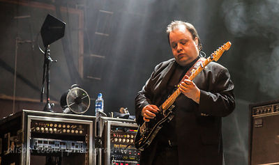 Steve Rothery, guitar, Marillion performing Brave on Saturday night of the UK Marillion weekend, 2013