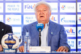 Mihajlo Mihajlovski during the Final Tournament - Closing press conference - Final Four - SEHA - Gazprom league, Skopje, 15.04.2018, Mandatory Credit ©SEHA/ Stanko Gruden