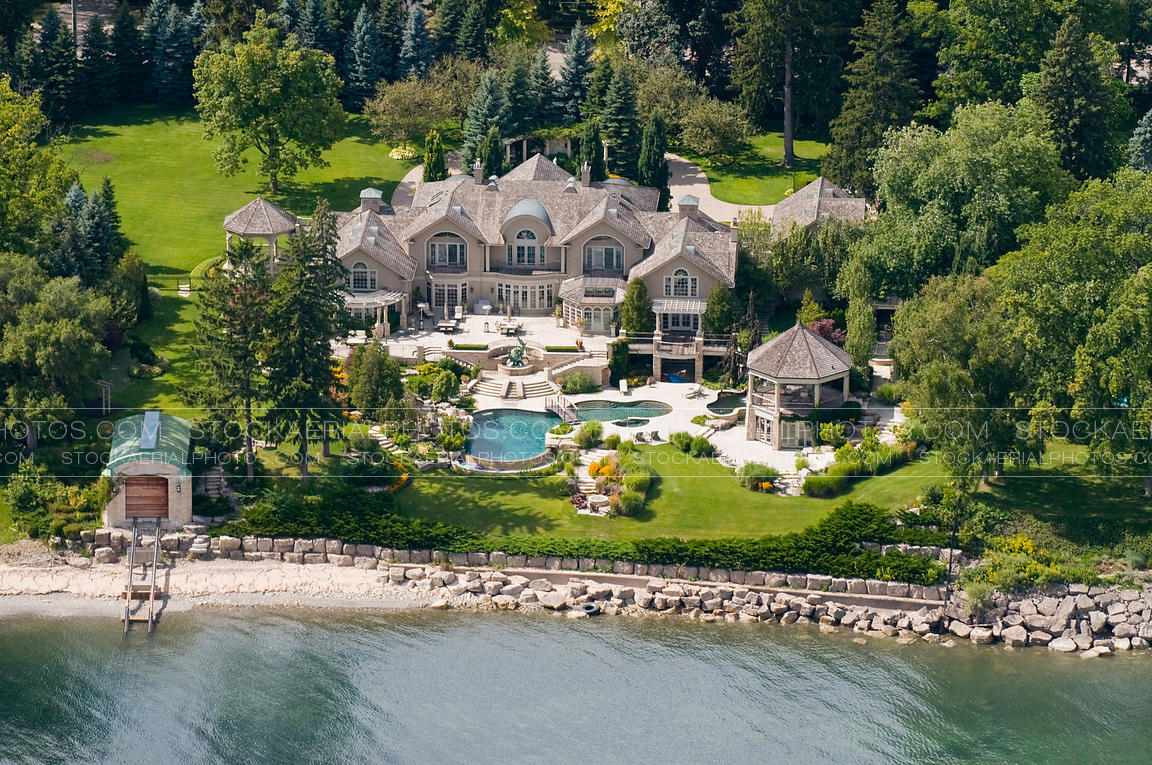 Aerial Photo Luxury Home
