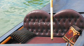 Close up of gondola seats