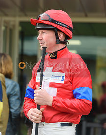 Scott Lowther in the Parade Ring - Champions Willberry Charity Flat Race - Cheltenham Racecourse, April 20th 2017