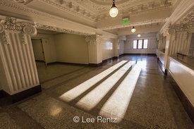 Sunlight Streaming into Renovated King Street Station in Seattle
