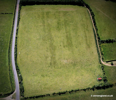 aerial photograph of Branodunum Roman Fort at Brancaster Norfolk England UK