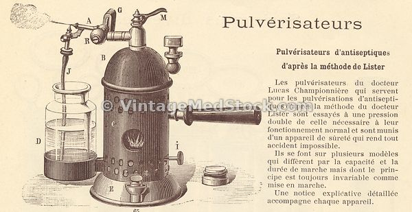 Medical Illustration of an Antiseptic Sprayer