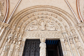 Southern portal tympanum of Bourges cathedral, Cher