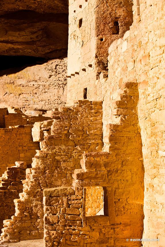 CLIFF PALACE RUINS ANCIENT DWELLINGS MESA VERDE NATIONAL PARK COLORADO COLOR VERTICAL