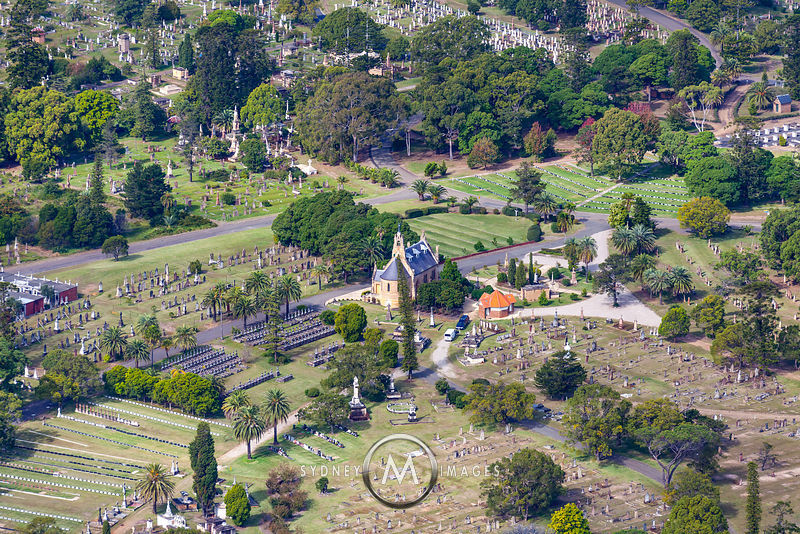 Sydney Aerial Photography Rookwood Cemetery