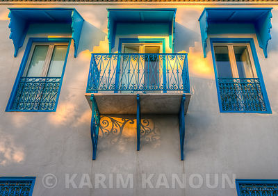 Tradional tunisian windows architecture Sidi Bou Said Tunisia