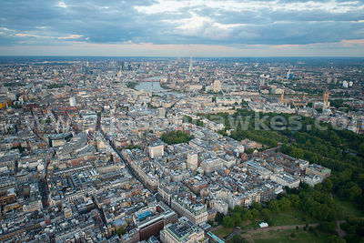 London. Aerial view of St James's and Mayfair