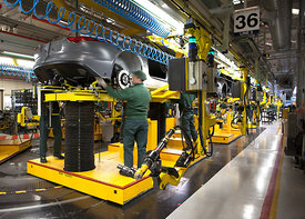 Jaguar Land Rover Car Plant - Castle Bromwich for The Independent on Saturday