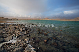 Karakul Lake and Kongur Mountain near Kashgar City, West China