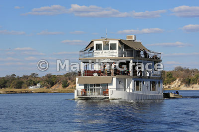 Pride of the Zambezi tourist riverboat on the River Chobe, Botswana