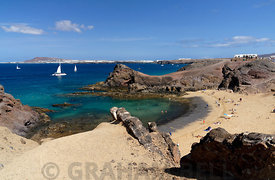 Papagayo Beach, Playa Blanca, Lanzarote, Canary Islands, Spain.
