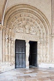 Southern portal of Bourges cathedral, Cher