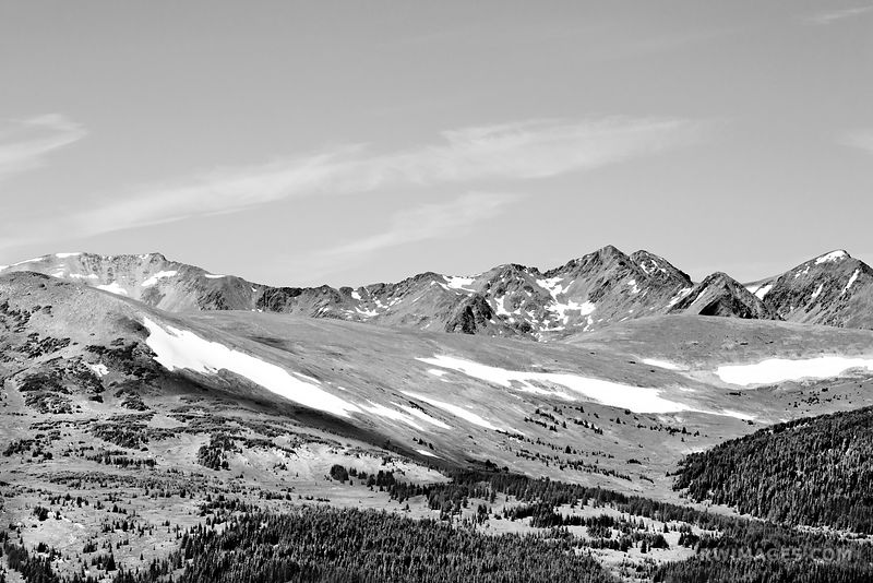 ROCKY MOUNTAIN NATIONAL PARK COLORADO BLACK AND WHITE