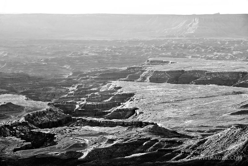 CANYONLANDS NATIONAL PARK UTAH BLACK AND WHITE