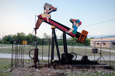 Pump Jack and See Saw Kids