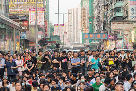 Hong Kong protest in causeway bay and Mongkok