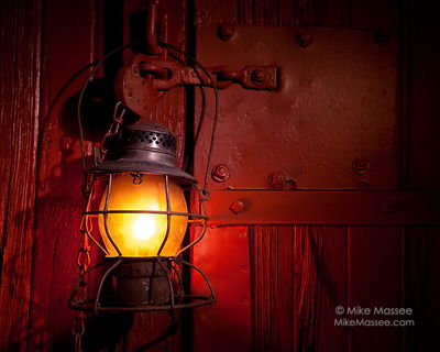 Nevada Northern Railway Lantern series - lantern on boxcar
