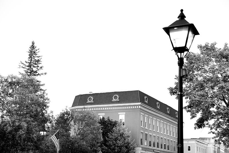 DOWNTOWN MONTPELIER VERMONT BLACK AND WHITE