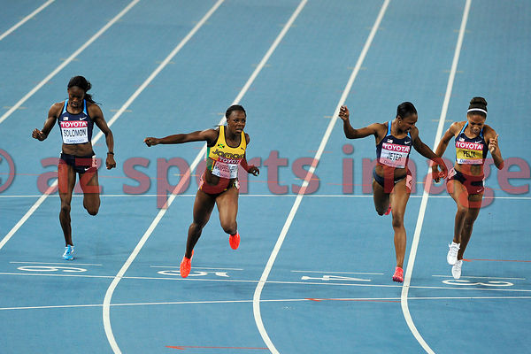 Veronica Cambell-Brown from Jamaica wins the 200m 22.22sec. followed by the two Americans Carmelita Jeter 22.37sec. in second place and Allyson Felix 22.42sec. in third place
