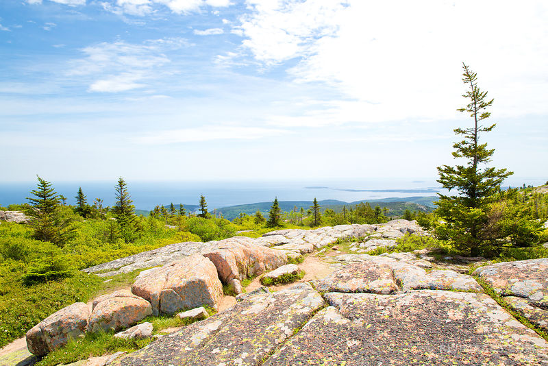 VIEW FROM CADILLAC MOUNTAIN ACADIA NATIONAL PARK MAINE