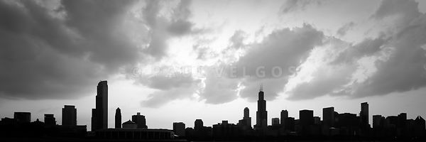 Chicago Skyline Panorama Silhouette Photo