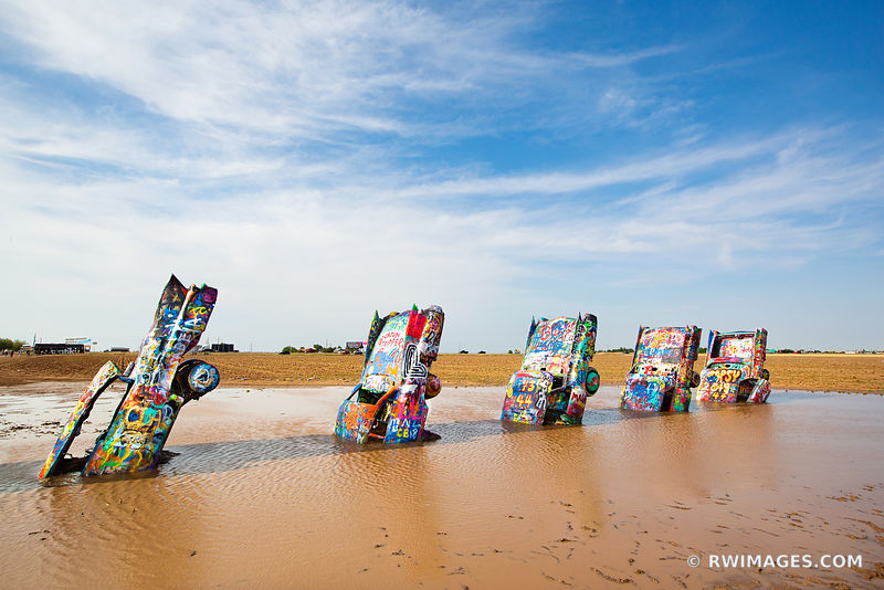 CADILLAC RANCH AMARILLO TEXAS ROUTE 66 COLOR