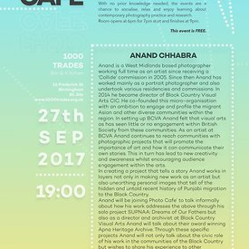 The next PhotoCafe is on 27th September with award winning photographer Anand Chhabra.  Pictures